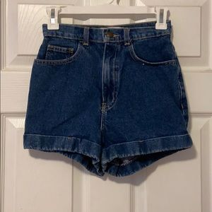 Dark wash American Apparel shorts